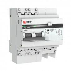 Дифференциальный автомат АД-2 25А/ 30мА (хар. C, AC, электронный, защита 270В) 4,5кА EKF PROxima