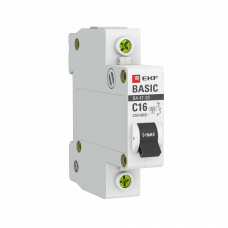 Автоматический выключатель 1P 16А (C) 4,5кА ВА 47-29 EKF Basic