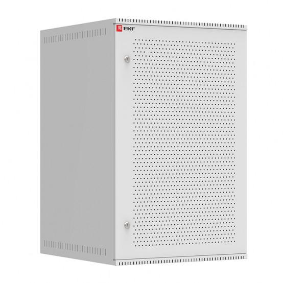 Шкаф телекоммуникационный настенный 18U (600х650) дверь перфорированная, Astra A серия EKF Basic