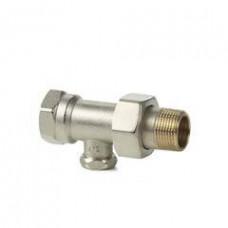 2-ходовой прямой радиаторный клапан, PN10, DN10, kvs 0..1.8