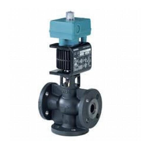 Смесительный/2-ходовой клапан, фланцевый, PN16, DN25, kvs 8,0, AC/DC 24 В, 0/2...10 В, 4...20 мА, для среды с минеральным маслом