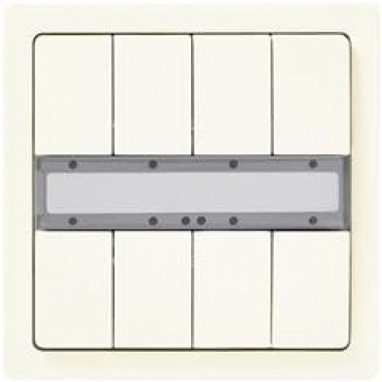 Четыре пары клавиш, без светодиода состояния, титаново-белый