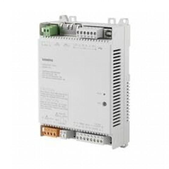 Компактный комнатный контроллер, BACnet/IP, 230 V, плоский корпус, 1 DI, 2 UI, 1 реле, 1 AO, 4 тиристорных выхода