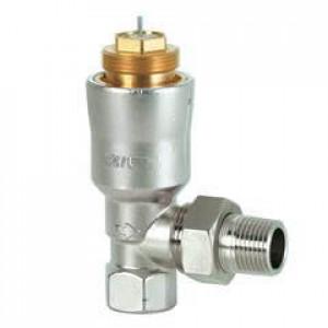 Угловые радиаторные клапаны, DIN, с компенсацией давления, dpw 10 кПа, PN10, DN15, 95...483 л/ч