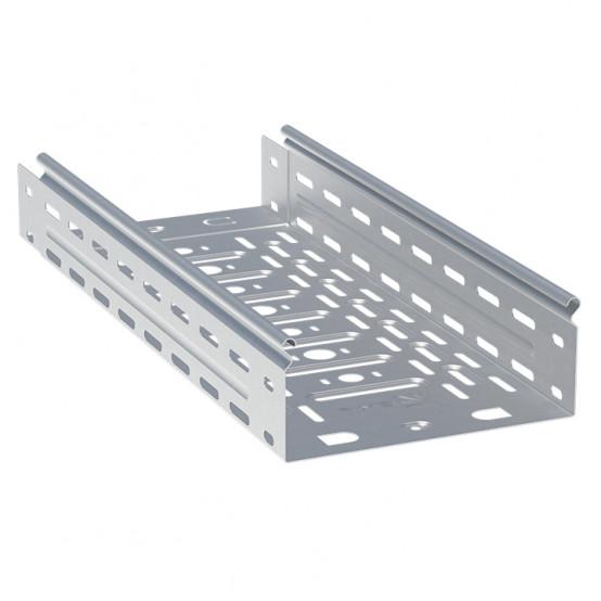 Лоток перфорированный металлический 80х300х2000-0,8мм (12м) INOX EKF