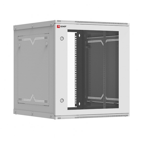 Шкаф телекоммуникационный настенный разборный 12U (600х650) дверь стекло, Astra серия EKF PROxima