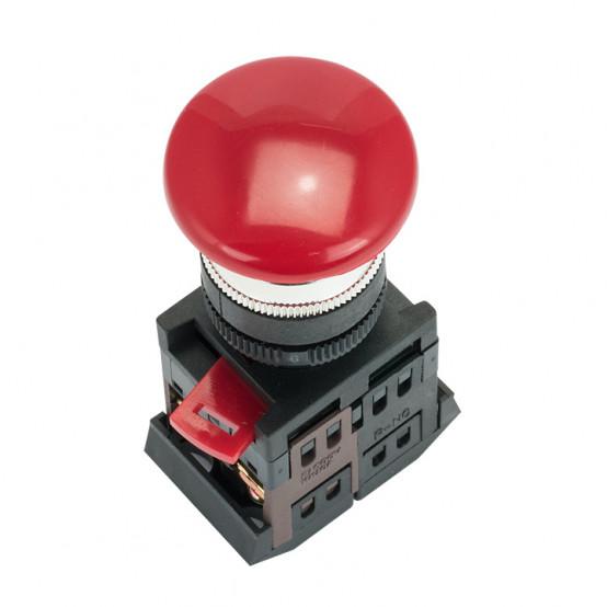 Кнопка AEAL-22 красная с фиксацией NO+NC Грибок EKF PROxima