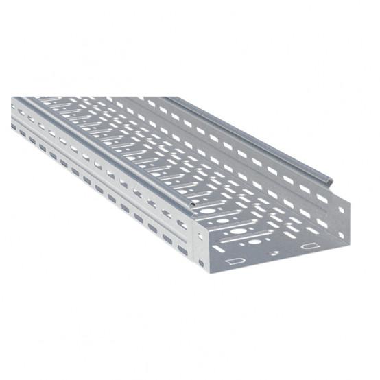 Лоток перфорированный металлический 80х400х3000-1,0мм (6м) EKF