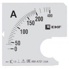 Шкала сменная для A721 200/5А-1,5 EKF PROxima