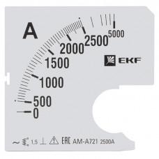 Шкала сменная для A721 2500/5А-1,5 EKF PROxima