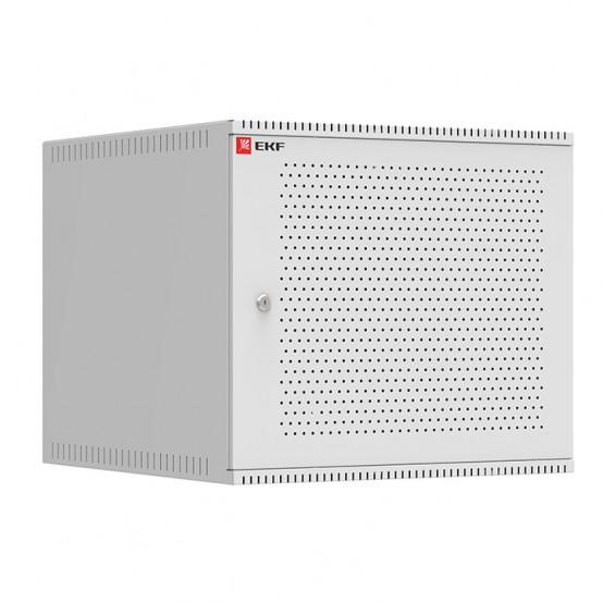 Шкаф телекоммуникационный настенный 9U (600х650) дверь перфорированная, Astra A серия EKF Basic