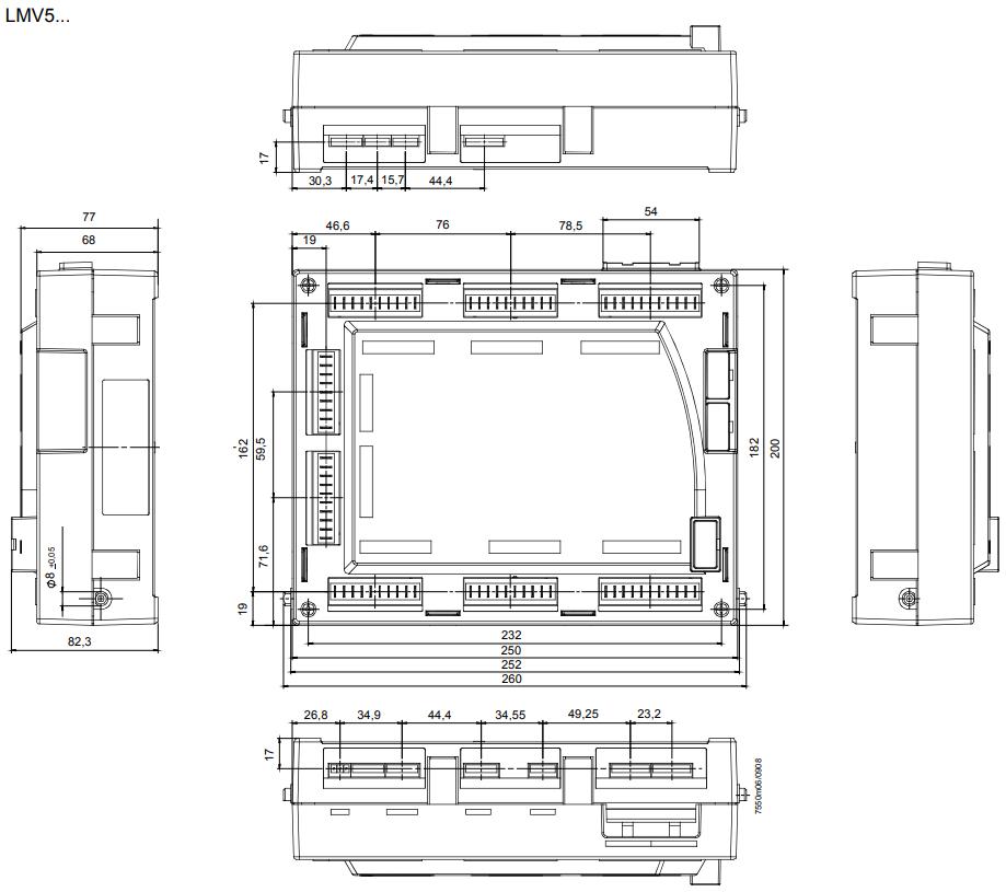 Размеры Siemens LMV50.320B2